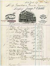 1871 Letterhead Painter Supplies Jessup Childs  Brooklyn New York