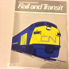 Rail And Transit Magazine Canadian National Turbo May/June 1976 070117nonrh
