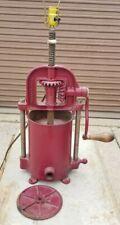 Antique 4Qt Lander'S Frary & Clark Sausage Lard Fruit Wine Press w/lamp attached
