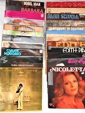 Barbara, M. Laforêt, E.Piaf, G.Nougaro, M.Polnareff, A.Stivell.. -24 albums 33T