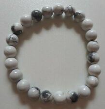Bracelet en Howlite blanche pierres naturelles 6 mm - Lithothérapie - spirituel