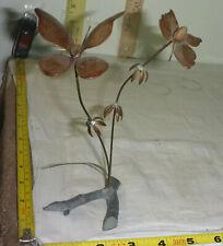 "Vtg 2 BUTTERFLY Kinetic Art Sculpture  * Mid Century Modern *  ~ 7⅛"" High"