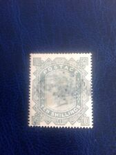 GB 1878 SG128 10/- Greenish-grey Plate 1 (BC) well centred used c£3200.00