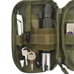 Men Tactical Medical First Aid EDC Bag Pouch Pocket Mole Bag Organizer Outdoor z
