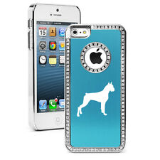For iPhone 4s 5 5s 5c 6 6s Plus Rhinestone Crystal Bling Case Cover Boxer Dog