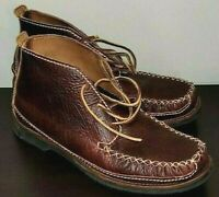 Chippewa Mens Leather Chukka Boots Size 11 D Brown Vibram Soles
