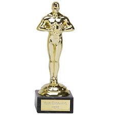 10 x 178 mm Achievement Oscar Hollywood, prom, feste Trophy, Premio, Incisione Gratuita