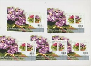 """CANADA, 2010, """"FLORA - VIOLET"""" 5 S/S, MINT NH. FRESH IN GOOD CONDITION"""