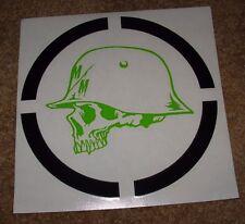 """METAL MULISHA Green RANGE Helmet Skate Sticker 8.5"""" motocross skateboard decal"""