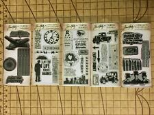 Tim Holtz Clear & Cling Stamps STAMPERS ANONYMOUS Set of 5 NIP