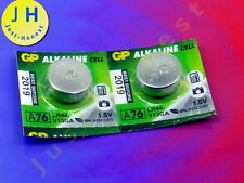 Stk. 2 x LR44 1.5V 1,5V GP Alkaline Knopfzelle Batterie, Coin Battery #A1755