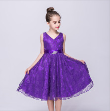 UK Flower Girls  Formal Layered Wedding Dresses Bridesmaid Party Dress Age 2-12Y