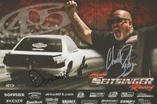 2018 Chuck Seitsinger + Dominator signed Mustang PRI Street Outlaws postcard