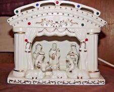 Nativity Scene Night Light White EUC Christmas 1970's -Ceramic Eagle Profit