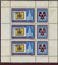 HUNGARY--Mini sheet of 3 Scott #2421