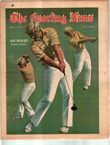 The Sporting News Newspaper April 13, 1974 Masters Favorite Jack Nicklaus G