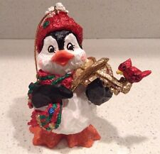 Christmas Penguin Ornament San Francisco Music Box Company Plays Music Musical