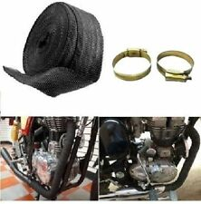 Exhaust Silencer Wrap With 2 Clip BLACK  Heat Cooling Control For Royal Enfield
