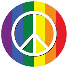 2 x Peace Symbol Rainbow Pride Gay LGBT car, van decal sticker