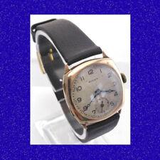 WW2 Vintage  and Retro 9k Gold Rolex Cushion Case Officers Wrist Watch 1939