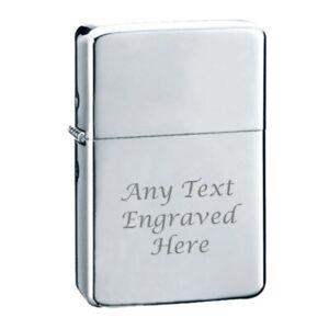 Chrome Engraved Star Engraved Lighter In Gift Tin