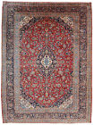 Vintage Oriental Ardekan Rug, 10'x14', Red/Blue, Hand-Knotted Wool Pile