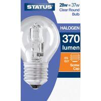 1, 2, 4, 6 or 10 Eco Halogen Screw ES Clear Golf Ball Light Bulbs 28w=37w NEW