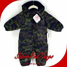 NWT HANNA ANDERSSON BABY PUFFER SNOWSUIT LITTLE ONES NAVY CAMOUFLAGE 80 10-24 M