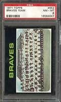1971 TOPPS #652 BRAVES TEAM PSA 8 BRAVES NICELY CENTERED  *K4393