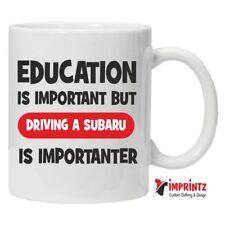 EDUCATION SUBARU - Novelty Mug Funny Birthday Xmas Gift Tea Coffee Humour WRX