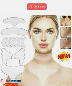 11Pcs Silicone Anti Wrinkle Pad Patches For Face Eye Forehead Reusable UK Stock