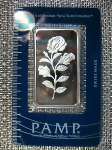 """PAMP SWISS """"ROSE"""" .999 SILVER BAR 1 OZ. SEALED IN ASSAY ~ Pamp Suisse Gorgeous"""