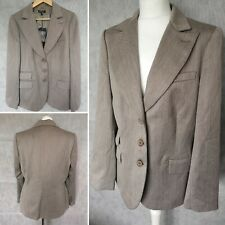 APART Womens Virgin Wool Light Brown Elegant Blazer Size 22 *NEW* Work Office