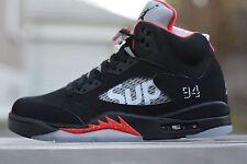 Supreme X Nike Air Jordan 5 Retro-Nero 100% Authentic EU 45/US 11 Shoes Scarpe