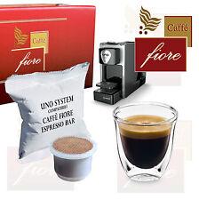50 Cialde Capsule Uno System Compatibili Kimbo Illy - Caffè fiore Espresso Bar