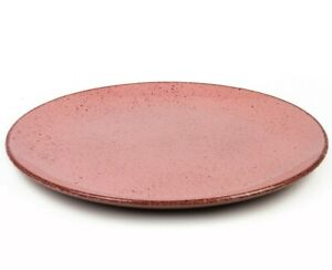 11.4 inch Pale Pink Stoneware Clay Ceramic Dinner Plate, Made in Belarus
