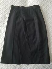 Akris Punto black wool Asymmetrical Pleat Skirt Size 4