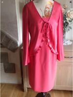 Dusk By Frank Usher Jewel Detail 2 Piece Dress  And Jacket Size-10 New (B3)