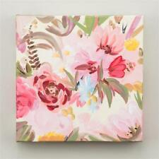"NEW GLORY HAUS CANVAS PINK RED FLOWERS ""BLESSED TO HAVE A FRIEND ""  10 x 10"