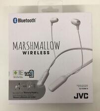 (New) JVC HAFX39BTW White Marshmallow Wireless Headphones
