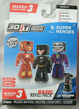 3D IT CHARACTER CREATOR DC COMICS SUPER HEROES BATMAN - JOKER - FLASH NEW