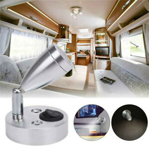 2 Pcs LED Spot Reading Lights Switch Camper Caravan Van Boat Interior Light 12V
