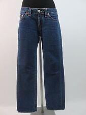 True Religion Stevie Damen Jeans Hose Denim & Stretch Straight Leg W. 30  Blau