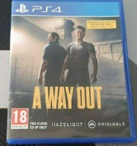 A WAY OUT ((( Uniquement en co-op 2 joueurs )))) PS4 VF Comme Neuf