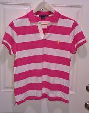 RALPH LAUREN SPORT Golf Women's Mesh Cotton Polo Shirt & Large Pony Polo L & XL