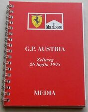 FERRARI GP Austria Media Guide 1302/98 Press No brochure depliant Book Livre
