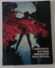 San Diego Underwater Film Festival 1978 Fourteenth Member Book Scuba Guide dive