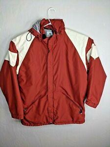 Burton Snowboard Men's Jacket XL  Red Rust Color Removable Hood