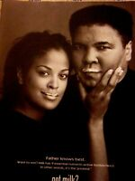 "Muhammad Ali-Laila Ali-2001 Milk Mustache Original Print Ad 8.5 x 11"""