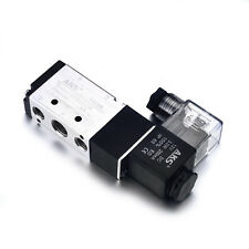 """DC12V  5 Way 2 Position Pneumatic Solenoid Valve 1/4"""" frequency 5 cycles/s"""